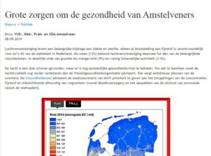 De buitenlucht in Nederland zit vol met fijnstof en dat veroorzaak veel zieken en doden. De medische kosten rijzen de pan uit.