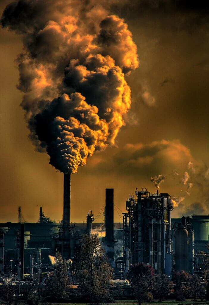 luchtvervuiling van de binnen- en buitenlucht