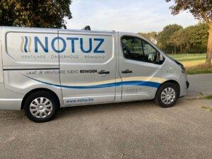 Schone lucht - beeldmerk op auto Notuz Ventilatie