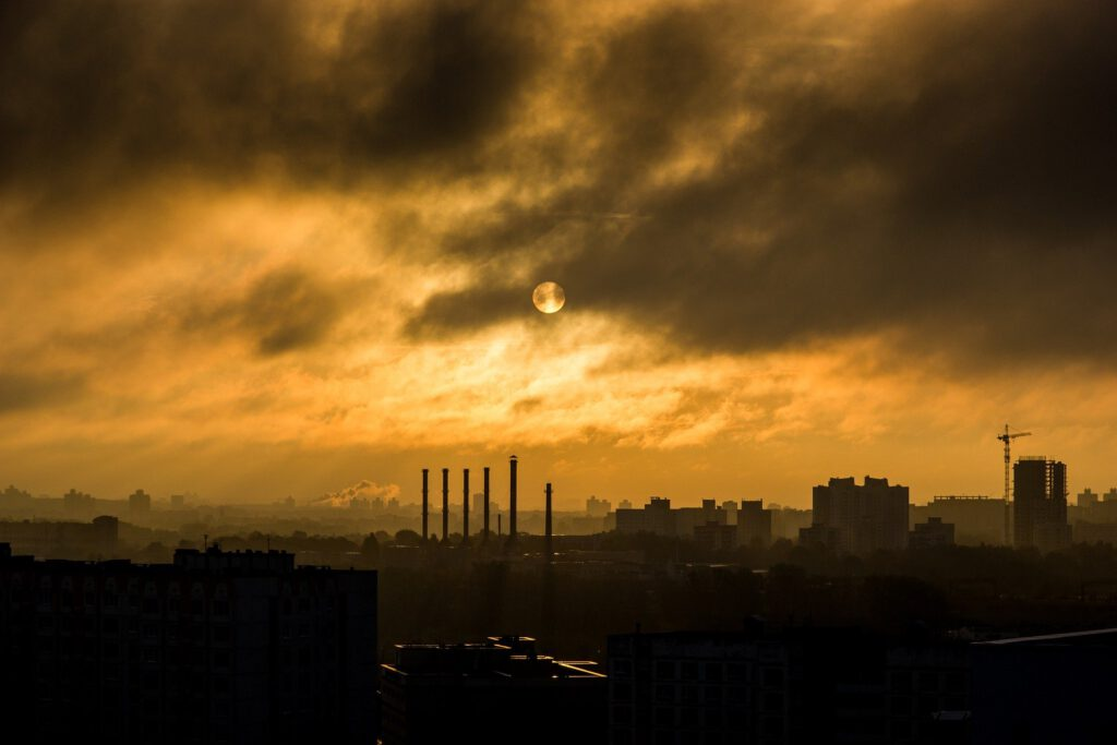 vervuiling in de lucht