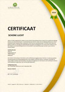 Schone lucht-certificaat