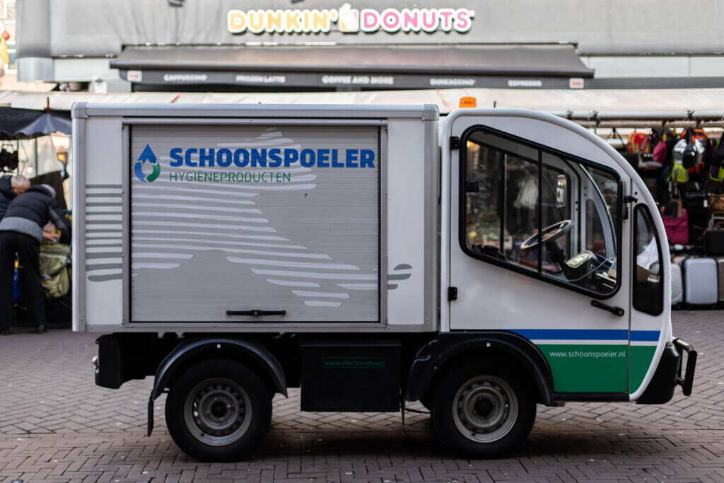 elektrisch producten vervoer Schoonspoeler